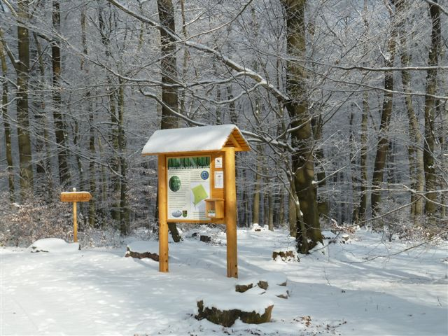 2: Eingangsbereich im Winter